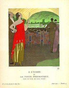1921 de la Gazette du Bon Ton. Robe du Soir, de Paul Poiret.