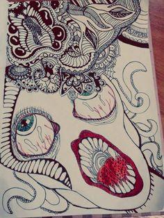 #doodle_art #medusa