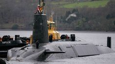 HMS Vengeance, a British Royal Navy Vanguard class Trident Ballistic Missile Submarine © David Moir