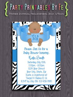 Printable Baby Shower Invitation ~ It's A Boy! 2 Baby Shower ~ I93