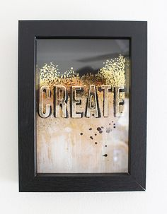 Foiled Framed Art by Chantalle McDaniel for We R Memory Keepers