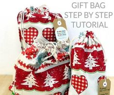 Reusable Fabric Gift Bag : 8 Steps (with Pictures) - Instructables Stitch Box, Nail Polish Flowers, Folded Book Art, Fabric Gift Bags, Straight Stitch, Couture, Loom Knitting, Crochet, Handmade Gifts