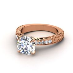 Rose Gold Engagement Ring. I really like the intricate details in this ring.