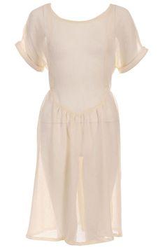 ROMWE | Self-tied Skin Opaque Dress, The Latest Street Fashion #ROMWE