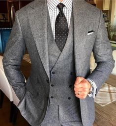 Dapper men in grey.