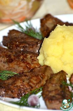 Beef liver in a special way - culinary recipe- Beef liver in a special way – cooking recipe Beef Recipes, Cooking Recipes, Meat Appetizers, Russian Recipes, Seafood Dishes, Saveur, Tasty Dishes, Food Photo, Good Food