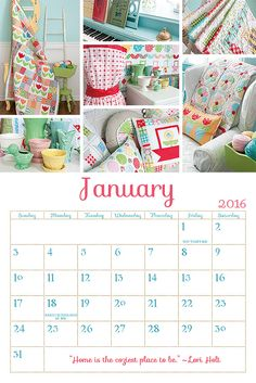 Cozy Cottage Calendar by Lori Holt of Bee in my Bonnet!
