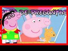Peppa Pig en español, familia pig y amigos en preguntas y repuestas, tes...