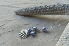 Silver Sunrise Shell Cascade Necklace