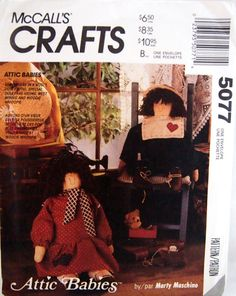 McCall's Crafts 5077 Attic Babies Dolls And Clothes by NeedANeedle