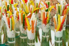 simple and super easy baby shower food ideas, dessert inspirations - salad fingerfood
