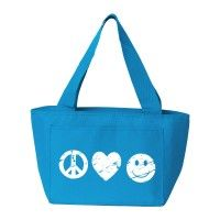 Peace-Heart-Smiley Insulated Lunch Bag