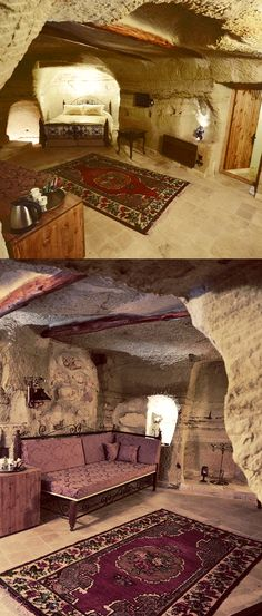 Stay in a cave hotel in Cappadocia, Turkey