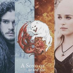 ・ Dany and Jon | A Song of Ice and Fire | The last of the Targaryens #Jonerys #thewolf #thedragon #asoiaf