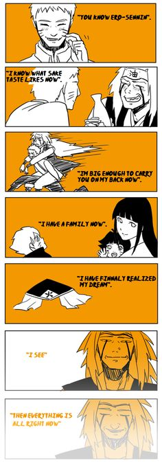 Farewell  Ero-Sennin. Everthing is good. - Naruto