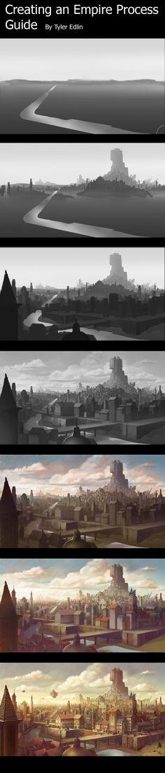 empire city process by *TylerEdlinArt on deviantART