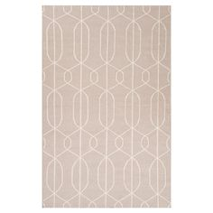 Bring a pop of pattern to your living room or master suite with this flatweave wool rug, showcasing an eye-catching trellis motif.  ...