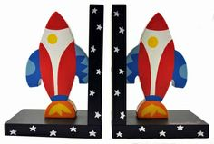 Rockets Wooden Bookends $40