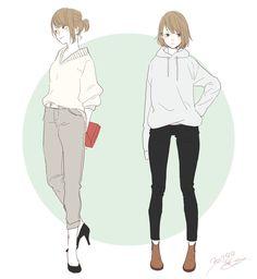 Just an ordinary girl :/ Character Illustration, Graphic Illustration, Character Concept, Character Art, Anime Dress, Wow Art, Beautiful Anime Girl, Manga Characters, Anime Outfits
