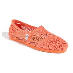 TOMS 'Classic Crochet' Slip-On (Women) ($58) ❤ liked on Polyvore
