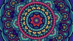 Mandala seamless looped animation pattern for spiritual, meditation, yoga, chill-out, relaxing, music videos, trance performance, traditional Hindu and Buddhist events.