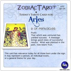 Daily tarot card for Aries from ZodiacTarot! Aries, have you seen today's horoscope???   Visit iFate.com now!  And for all today's ZodiacTarot cards, check out ZodiacTarot.com !