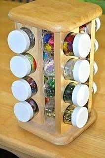Use a spice rack for little arts and crafts materials such as glitter, beads, se. - DIY c. - Use a spice rack for little arts and crafts materials such as glitter, beads, se… – DIY craft - Classroom Organisation, Craft Organization, Craft Storage, Classroom Decor, Eyfs Classroom, Montessori Classroom Layout, Classroom Storage Ideas, Reception Classroom Ideas, Teacher Storage
