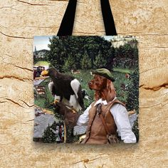 Hond Tote tas  Ierse Setter Tote Bag  Ierse Setter door NobilityDogs