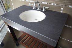 neolith black | Home › SOLID SURFACE MATERIALS › NEOLITH › BASALT BLACK Vanity Sink, House Design, Countertops, Limestone, Bathrooms Remodel, Limestone Countertops, Sink, Black Bathroom, Black Vanity Bathroom