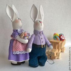 Купить Пасхальные Зайцы - бледно-сиреневый, пасхальный заяц, пасхальный сувенир, пасхальный подарок