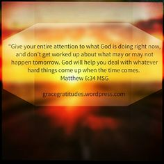 Blog Post 》Give Your Attention to God: https://gracegratitudes.wordpress.com/2016/10/23/give-your-attention-to-god/