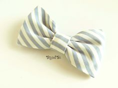 Men's Bow Tie in Slate Grey Blue and White by TangledTiesBowTies, $14.00