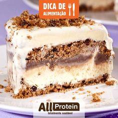 Pavê proteico com Cookie All Protein  Os cookies proteicos All Protein são crocantes e uma opção prática e saudável. Mas os cookies também podem ser usados para fazer uma receita deliciosa e super proteica como esse pavê gelado de cookies crocantes All Protein. Não deixa nada a dever para uma receita convencional! Veja como é fácil de fazer:  Ingredientes:  2 xícaras de leite em pó desnatado; ....