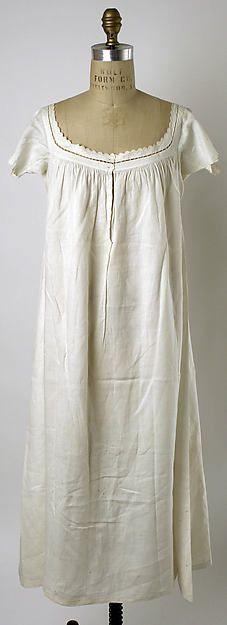 1840-1859 ca. Linen Chemise, American. http://metmuseum.org http://suzilove.com