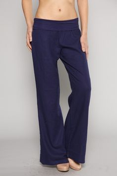 Fold-over lien pants. - 55% Linen - 45% Viscose