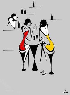 Autour d'un verre entre amies