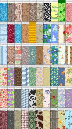Mod The Sims - 211 Sims 3 Patterns as Sims 2 Bedding