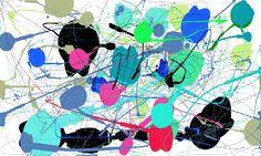 La aplicación que he empleado para hacer este dibujo se llama Pollock,es una aplicación muy simple en el que los dibujos que en ella se desarrollan no son de gran complejidad, solo tienes que mover el cursor del ratón de un lado para otro y de vez en cuanto pulsamos el botón izquierdo de dicho ratón para que aparezca una mancha de pintura.