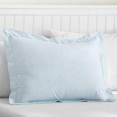 Mini Dot Duvet Cover + Sham, Frost Blue #pbteen