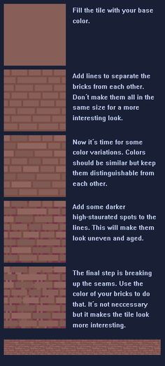 Brick wall tutorial by MakeStuffHapen on deviantART