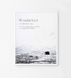 Wanderlust. Digital poster. Wanderlust printable por Byoliart