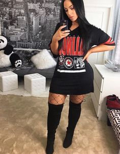 View other great ideas about Fashion attire, Loot clothes and Female design and style. Boujee Outfits, Style Outfits, Dope Outfits, Trendy Outfits, Fall Outfits, Fashion Outfits, Cute Fashion, Girl Fashion, Womens Fashion
