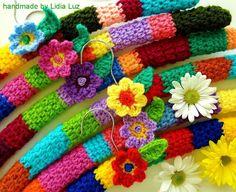 Lidia Luz: Florzinha do campo, cabides de crochê