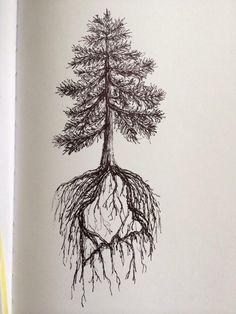 Pine Tree State tattoo design by ramble-inthe-roots.deviantart.com on @deviantART