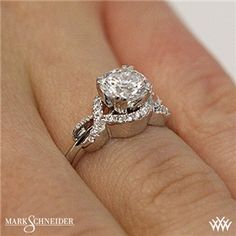 Mark Schneider Infinity Diamond Engagement Ring