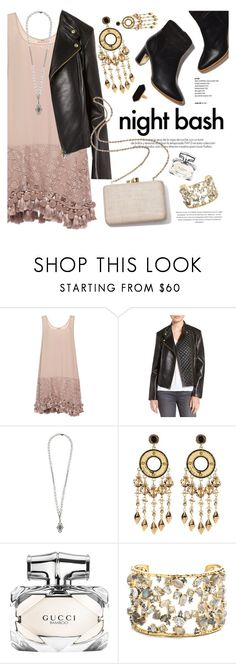 """""""Night Bash"""" by ivansyd ❤ liked on Polyvore featuring Rupert Sanderson, N°21, Cole Haan, Loree Rodkin, House of Harlow 1960, Louis Vuitton, Gucci, Kayu, Alexis Bittar and Jaeger"""