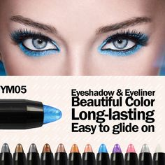SALE: US $2.07 - Beauty Outlet color eyeliners and eyeshadow pencil blue color | FREE Shipping: http://shop.getpretty.com.au/products/beauty-outlet-color-eyeliners-and-eyeshadow-pencil-blue-color/