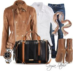 Cognac, created by orysa on Polyvore