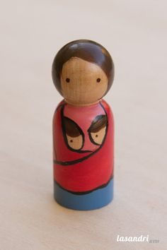 cute diy Wrapping Mama Peg Doll