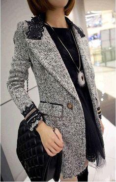 Women+Coat+Winter+Coat+Grey+Coat+Long+Wool+Coat+by+colorfulday01,+$69.99